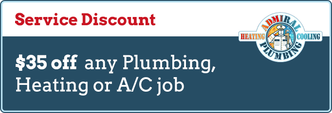 Service Discount Coupons at Admiral Plumbing, Heating & Cooling in Provo, UT
