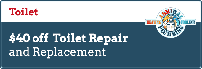 Special Offers on Toilet Repair Services at Admiral Plumbing, Heating & Cooling